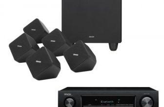 Pachet Receiver Denon AVR-X520 + Sistem boxe 5.1 SYS2020, cablaj inclus